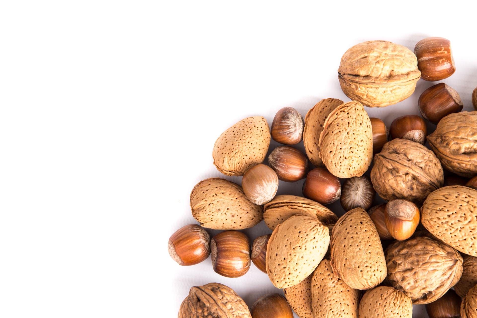 nuts. healthy