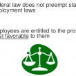 State Employment Laws Versus Federal Employment Law