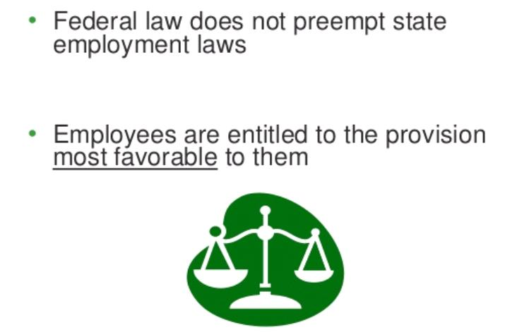 State Employment Laws Versus Federal Employment Laws
