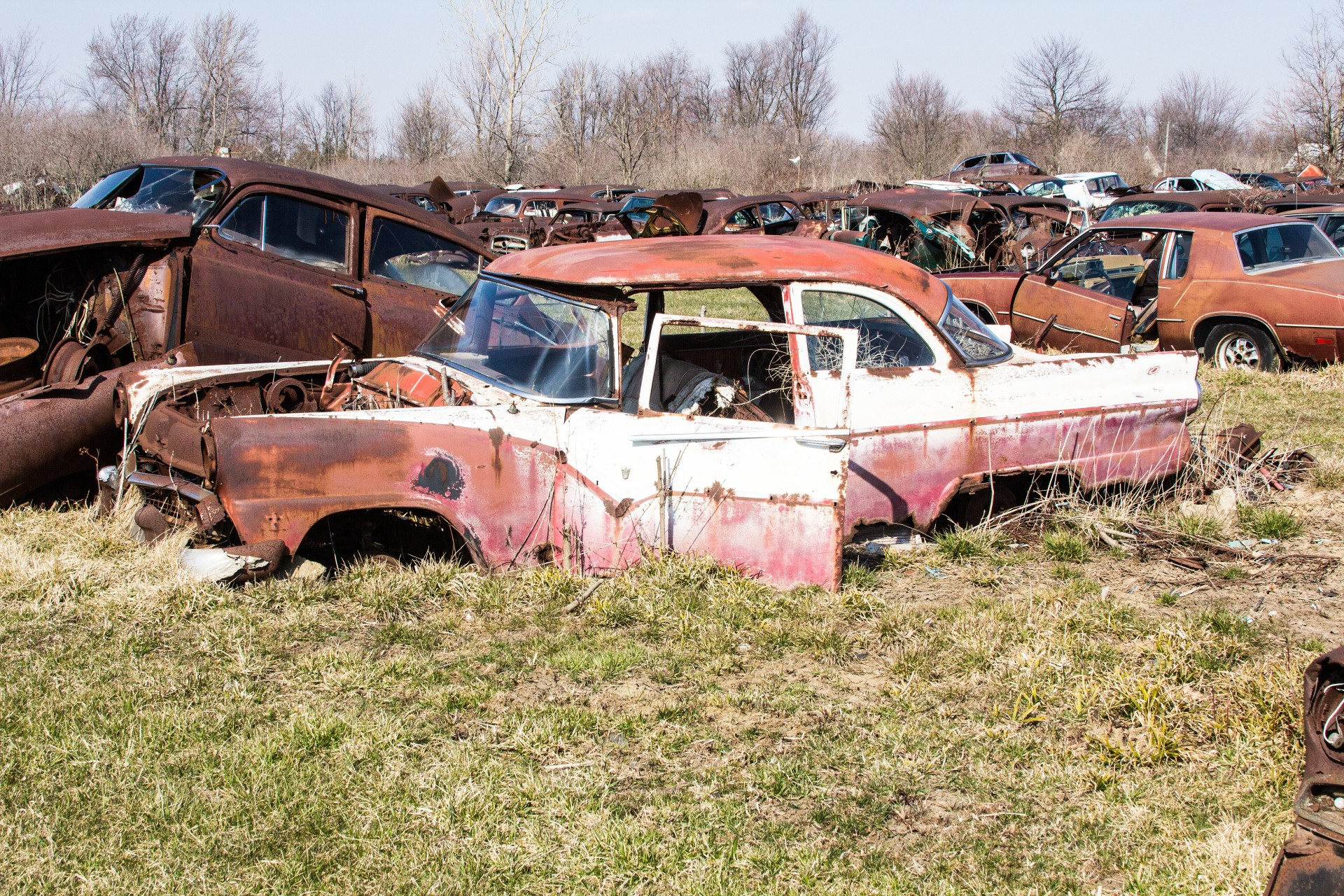 junk cars, recycled cars