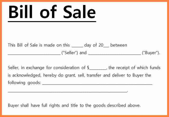 Contracts and Business Agreements Bills of Sale