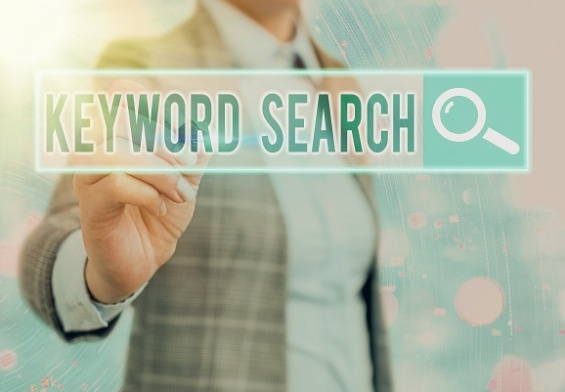 Keyword Search text in search bar